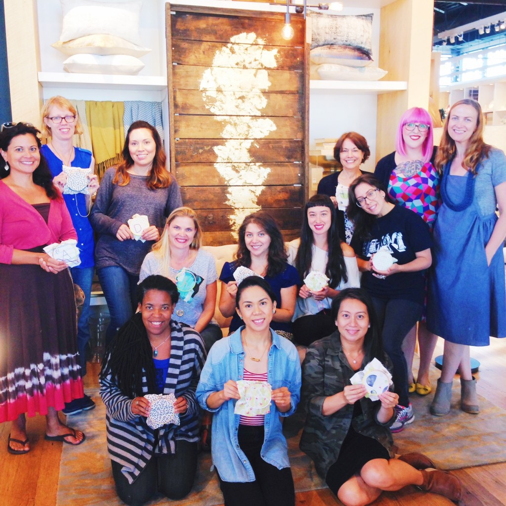 Embroidery Workshop Recap, West Elm