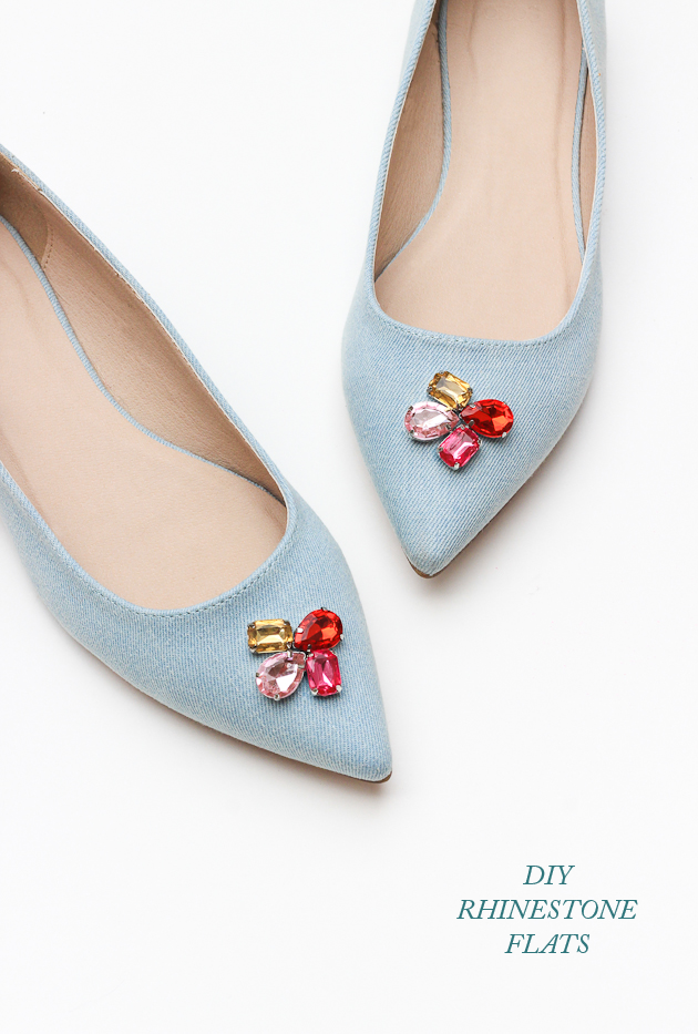 Add some sparkle to your shoes with this easy diy rhinestone flats tutorial!