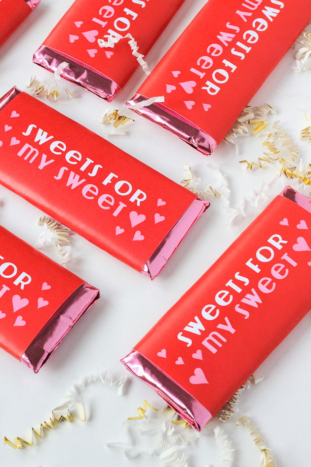 Free Printable: V-Day Candy Bar Wrappers